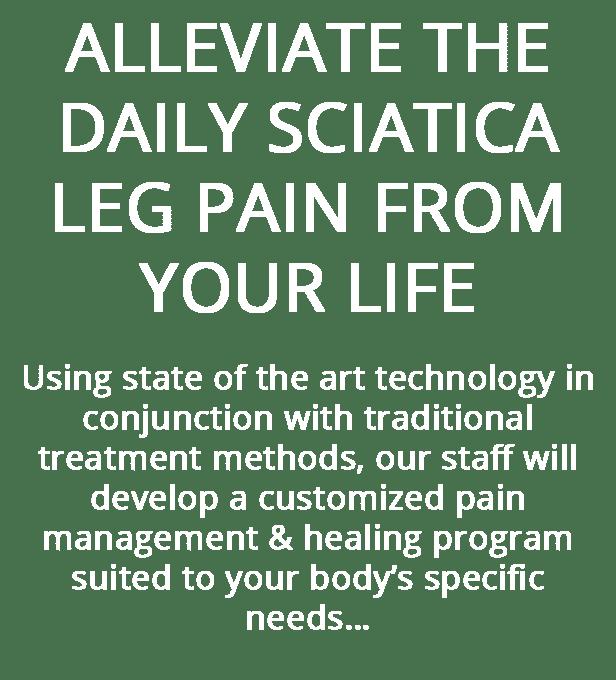 Alleviate your sciatica pain
