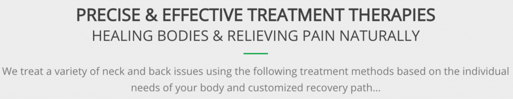 Precise and effective chiropractic treatment through