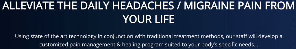 Alleviate the daily headaches and Migraine pain from your life