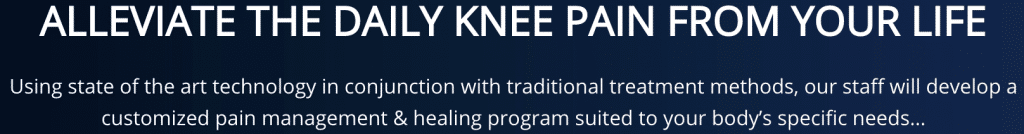 Alleviate the knee pain