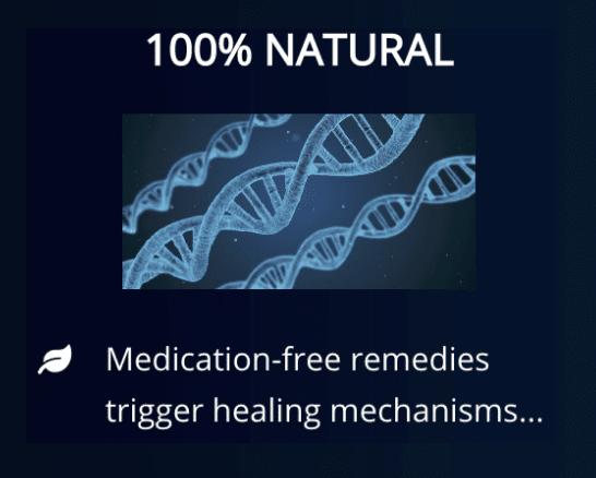 100% natural medication free remedies