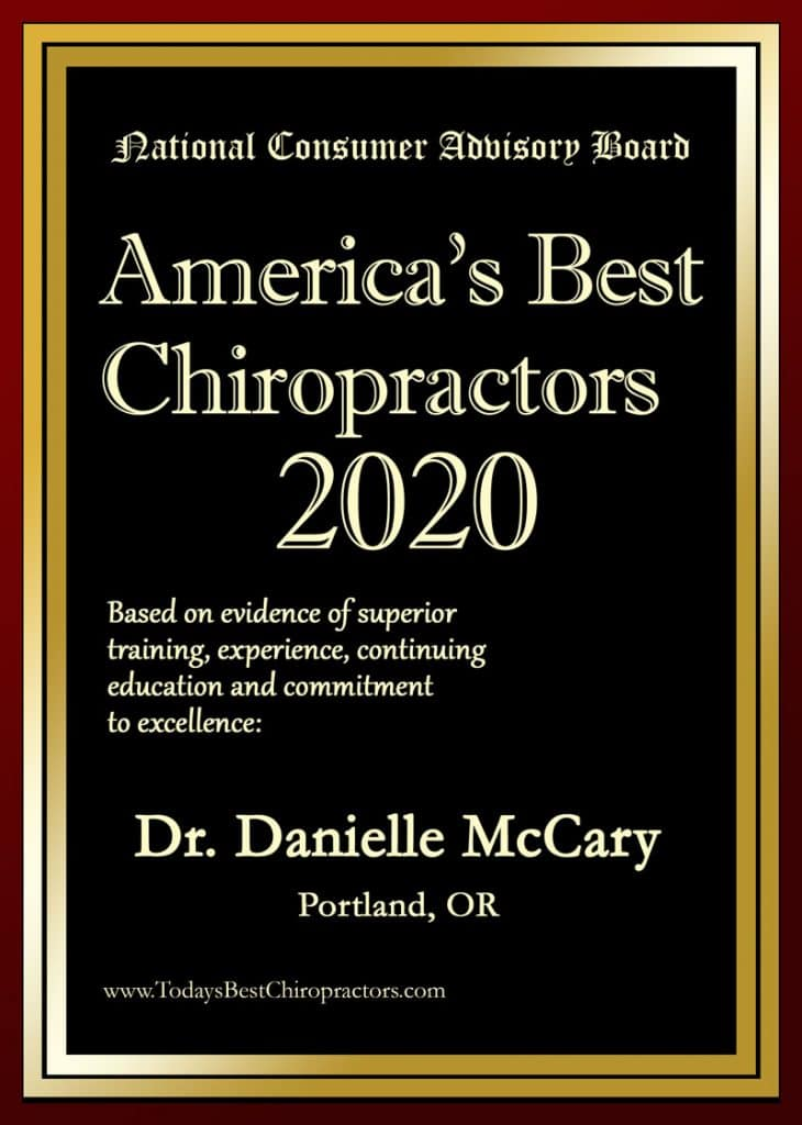 America's best chiropractor DR. DANIELLE MCCARY DC