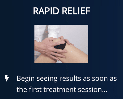 Rapid Relief from Knee pain