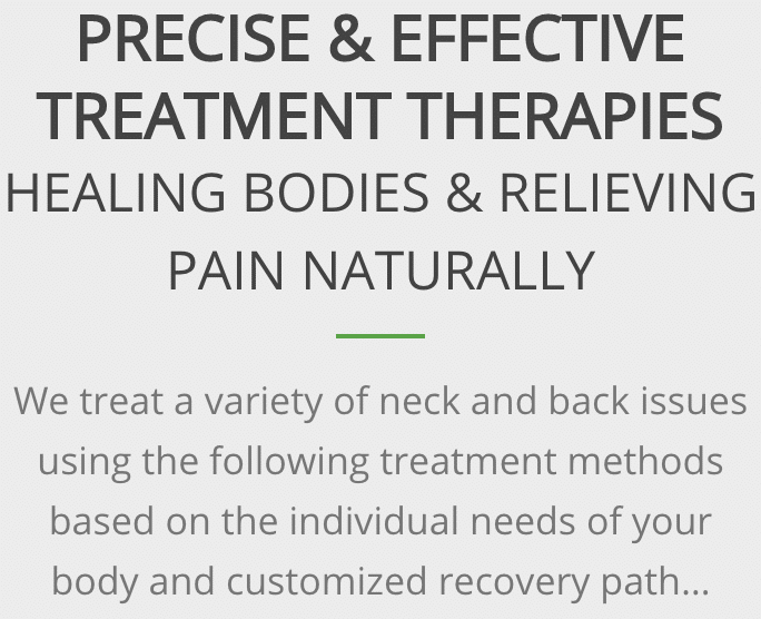 Precise and effective chiropractic treatment