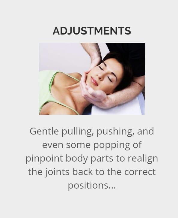 Adjustment in chiropractic care