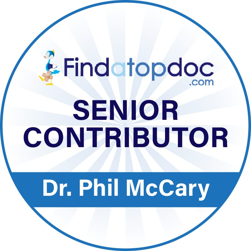 Senior Contributor Award Dr. Phil McCary by Findatopdoc.com